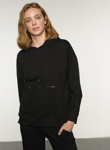 NGSTYLE NGKAW21SW0029 Fermuar Detaylı Sweatshirt Siyah